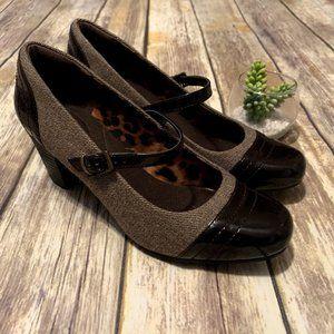Clarks Sapphire Stel Tweed Style Mary Jane Heels